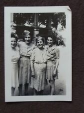WOMEN WEARING LOVED ONES MILITARY HATS Vtg 1940's PHOTO