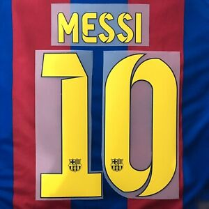 Barcelona FC MESSI #10 Name And Number Sets 2014 Heat Transfer