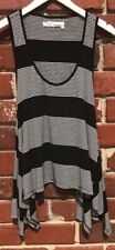 291 Venice Sz 02 Womens Sz M Medium Striped Tank Top Black White