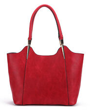 MKF Collection Beautiful Red Structured Tote Bag Mia K. Farrow SOLD OUT Leather