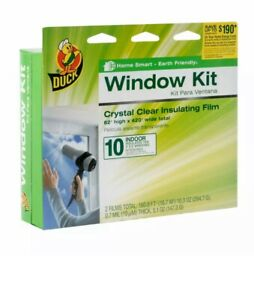 Duck Heavy Duty Extra Thick Clear Shrink Film Window Kit 54.2 Sq Ft