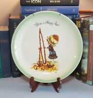 """Vtg 1972 Holly Hobbie Collector's Plate """"Put On A Happy Face"""""""