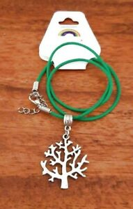 Tree of Life Pendant + Cord or Chain Necklace - Pagan Spiritual Buddhist Hippy
