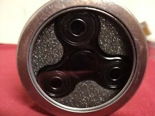 "Metal Triangle Hand Spinner 3 "" Fidget Toy in tin container  Black"