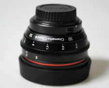 Customized Cine lens Canon 50mm f1.8 Canon EF mount for Canon 5d bmcc ursa c300