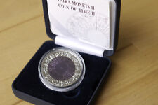 1 Lats Coin of Time II Latvia Lettland 2007 Silber-Niobium Münze mit Niob-Kern