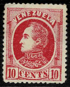 Venezuela 1880 10c Carmine Simon Bolivar - Mint No Gum