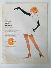 1957 women's BURLINGTON BUR-MIL CAMEO thigh high stockings Hosiery redhead ad