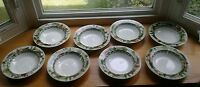 Farberware by Retroneu Stoneware Country Life Set of 8 Soup Pasta Bowls Rimmed