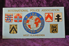 Vintage Tile International Police Association Tile West Vlaanderen Holland IPA