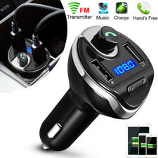 Wireless In-Car Bluetooth FM Transmitter MP3 Radio Adapter Car Cigar USB Charger