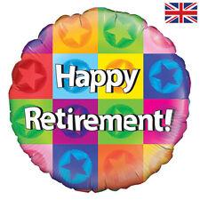 "18"" HAPPY RETIREMENT HELIUM FOIL BALLOON LEAVING BNIP oaktree 228762p"