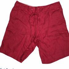 Jones New York size 4 100% linen red shorts