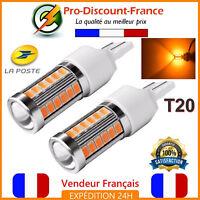 2 x T20 Ampoule 33 LED 7443 7440 W21 5W ORANGE Feux De Jour Clignotant Ampoules