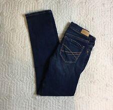 Aeropostale Skinny Blue Jeans Women's Size 000, 26 Waist Short Stretch Slim Dark