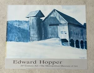 Vintage Edward Hopper Poster The Metropolitan Museum Of Art 20th Century 25x31