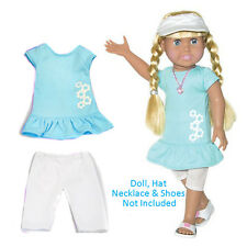 "SF Springfield TUNIC & LEGGINGS SET for 18"" Dolls American Girl Blue Outfit NEW"
