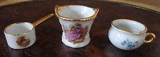 Vintage Limoges Porcelain Miniature Doll House Basket and Pots Set