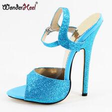 Ultra High Heel 16cm Stiletto Heel Ankle Straps Women Sandals