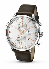 Accurist Mens Silver Dial Brown Leather Strap Watch 7078 RRP £129