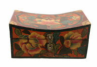 Cofanetto Scatola Buddista Double Dorje Tibet 20cm Artigianato Tibetano 3376
