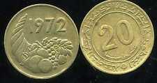 ALGERIE ALGERIA 20 centimes 1972