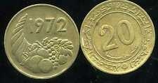 ALGERIE ALGERIA 20 centimes 1972  ( bis )