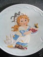 1982 Just Ducky Ltd Ed Plate Early Amer Girl Ducks Butterfly Debbie Bell Jarrett