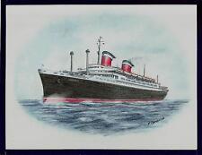 Original Art Work ...SS AMERICA... United States Line... ocean liner
