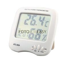 NEW Large LCD Display Digital Temperature Humidity Meter Hygro Thermometer Clock