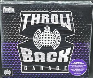 MINISTRY OF SOUND - THROW BACK GARAGE, TRIPLE CD ALBUM, (2019). NEW / SEALED.
