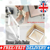 UK Stainless Steel Corner Angle Finder Ceiling Artifact Tool Square Protractor