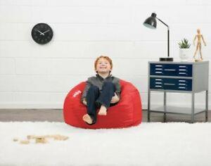 Big Joe Classic Bean Bag Kids Furniture Adult Teen Comfy Round Chair - Red
