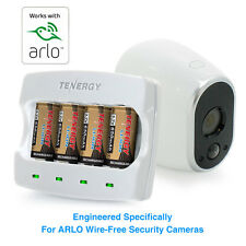 Tenergy Rechargeable Batteries & Charger for Arlo Cameras[Charger + 4 Batteries]