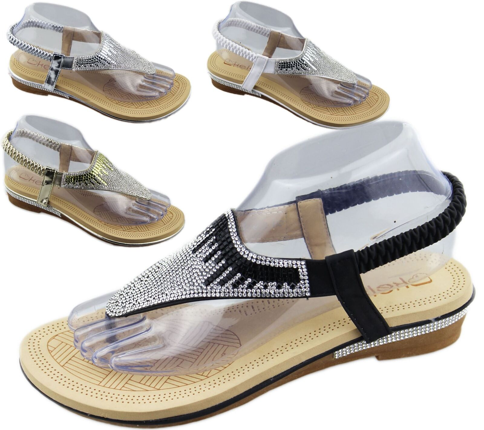 Mujer's Ladies Espadrilles Ankle strap strap Ankle Sequin Glitter Sandals Talla 3-8 a5d138