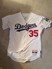 Los Angeles Dodgers TEAM ISSUED JERSEY 2015 Home  Autographed Brett Anderson #35