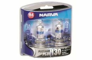 Narva H4 Globe 12V 60/55W Platinum Plus 130 2 Pack 48542BL2 fits Daewoo Matiz...