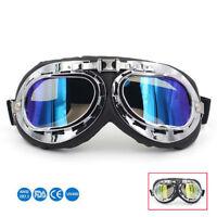 Retro Motorradbrille Oldtimer Brille ATV Pilotenbrille Fahrrad Fliegerbrille