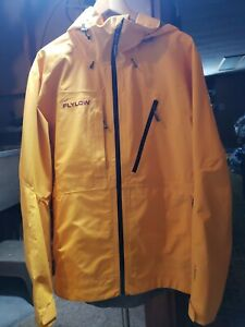 Flylow Lab Coat Ski Shell - Yellow - Polartec Neoshell - Men's Large