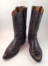 Mens Vintage Acme Tan Distressed Western Buckaroo Cowboy Boots Size 8 E Made USA