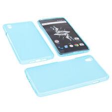 bolsa para OnePlus X funda protectora de móvil TPU goma Carcasa Azul
