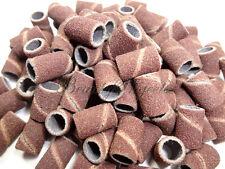 100pcs Nail Drill Sanding Bands Machine Replacement Bits 180 grit Medium Coarse