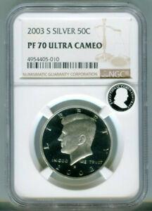 2003-S Kennedy Silver Half Dollar NGC PF70 Ultra Cameo Proof 70
