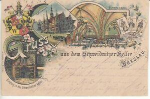 Ansichtskarte Schlesien Breslau Schweidnitzer Keller Gaststätte 1899