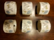 New listing Wedgewood Bone China - Ice Rose Napkin Rings - Set of 6
