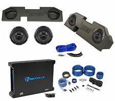 "2002-2017 Dodge Ram Crew/Quad 1500/2500/3500 Dual 12"" Subwoofer Box+Subs+Amp+Kit"