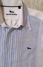 Camicia casual shirt Harmont & Blaine 100% Lino Taglia L (41) 16¼  Made in Italy