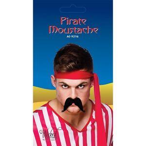 Noir Pirate Tash Fausse Moustache Tache Pour Déguisement