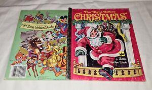 Little Golden book THE NIGHT BEFORE CHRISTMAS santa CORINNE MALVERN reindeer HC