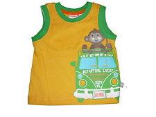 NEU Liegelind tolles T-Shirt / Top Gr. 68 gelb-grün mit Affen Motiv !!